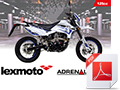 A6 Bike brochure for Adrenaline 125