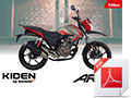 A6 Bike brochure for Kiden Aries 125