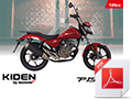 A6 Bike brochure for Kiden Pices 125