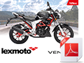 A6 Bike brochure for Venom 125