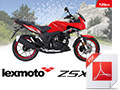 A6 Bike brochure for ZSX-F 125