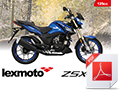 A6 Bike brochure for ZSX-R 125